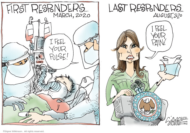 Signe Wilkinson  Signe Wilkinson's Editorial Cartoons 2020-08-27 illness