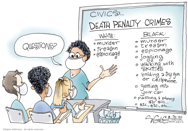Signe Wilkinson  Signe Wilkinson's Editorial Cartoons 2020-08-30 rights