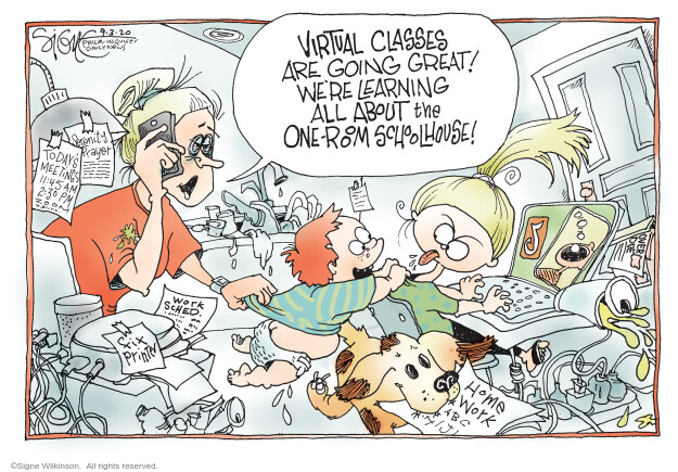 Signe Wilkinson  Signe Wilkinson's Editorial Cartoons 2020-09-03 illness
