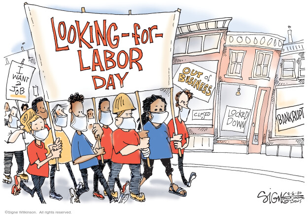 Signe Wilkinson  Signe Wilkinson's Editorial Cartoons 2020-09-06 unemployment