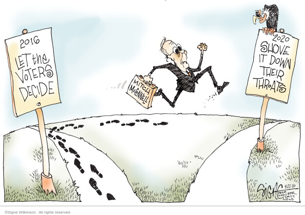 Signe Wilkinson  Signe Wilkinson's Editorial Cartoons 2020-09-22 majority