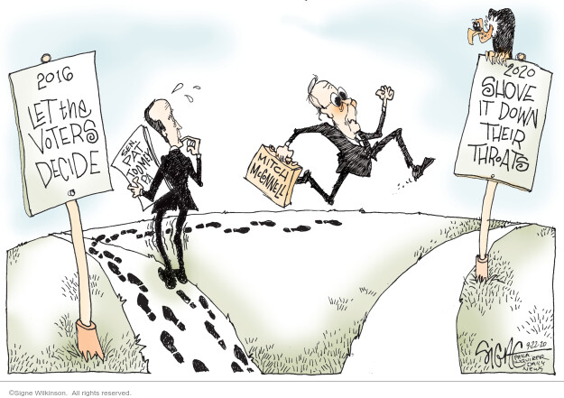 Signe Wilkinson  Signe Wilkinson's Editorial Cartoons 2020-09-22 majority leader