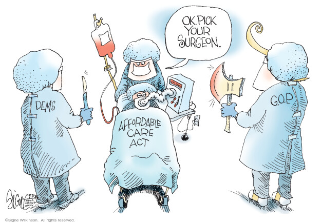 Signe Wilkinson  Signe Wilkinson's Editorial Cartoons 2020-09-30 health care