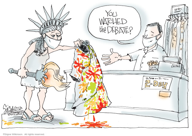 Signe Wilkinson  Signe Wilkinson's Editorial Cartoons 2020-10-01 debate