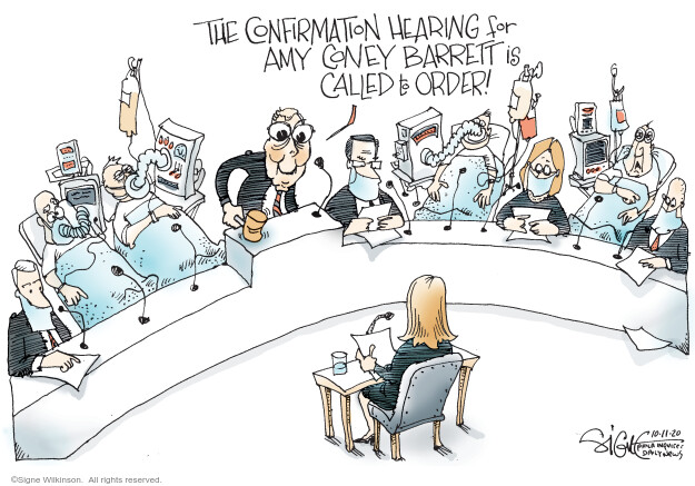 Signe Wilkinson  Signe Wilkinson's Editorial Cartoons 2020-10-09 majority leader