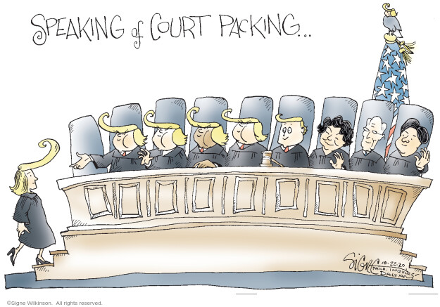 Signe Wilkinson  Signe Wilkinson's Editorial Cartoons 2020-10-22 Supreme Court