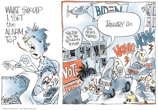 Signe Wilkinson  Signe Wilkinson's Editorial Cartoons 2020-10-25 political scandal