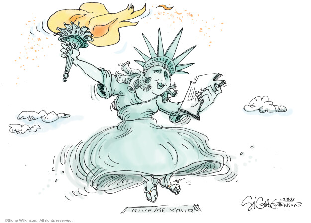 Signe Wilkinson  Signe Wilkinson's Editorial Cartoons 2021-01-23 editorial