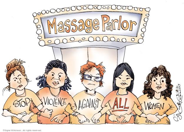 Signe Wilkinson  Signe Wilkinson's Editorial Cartoons 2021-03-18 race