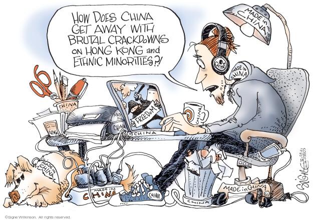 Signe Wilkinson  Signe Wilkinson's Editorial Cartoons 2021-03-23 democracy