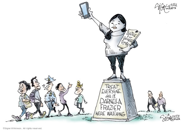 Signe Wilkinson  Signe Wilkinson's Editorial Cartoons 2021-04-23 guilty verdict