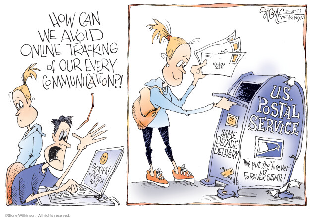 Signe Wilkinson  Signe Wilkinson's Editorial Cartoons 2021-05-03 internet privacy