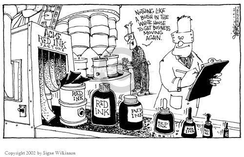 Signe Wilkinson  Signe Wilkinson's Editorial Cartoons 2002-01-09 federal budget