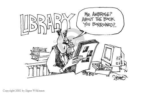 Cartoonist Signe Wilkinson  Signe Wilkinson's Editorial Cartoons 2002-01-14 oversight