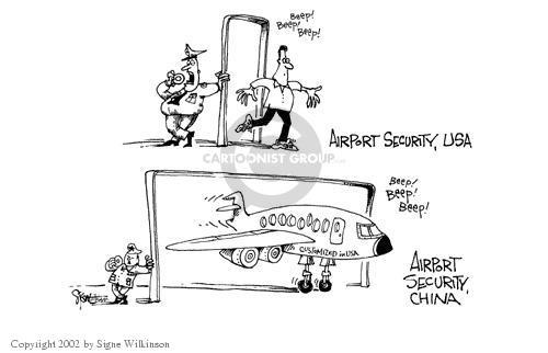 Signe Wilkinson  Signe Wilkinson's Editorial Cartoons 2002-01-24 aircraft
