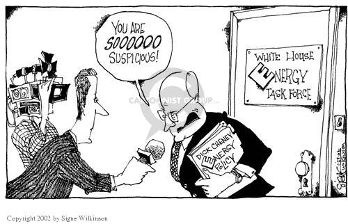 Cartoonist Signe Wilkinson  Signe Wilkinson's Editorial Cartoons 2002-01-29 congressional oversight