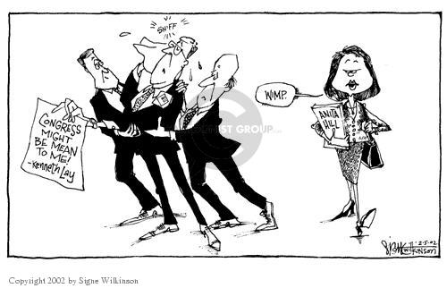 Signe Wilkinson  Signe Wilkinson's Editorial Cartoons 2002-02-05 congressional oversight