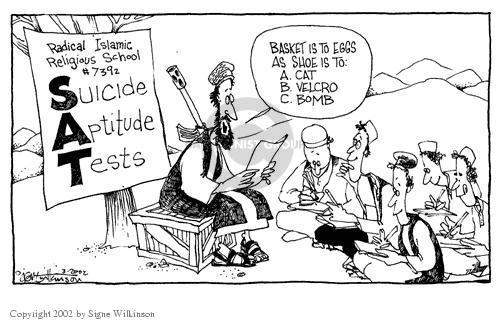 Cartoonist Signe Wilkinson  Signe Wilkinson's Editorial Cartoons 2002-03-19 terrorism