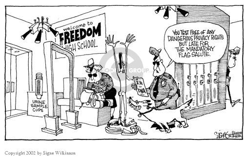 Signe Wilkinson  Signe Wilkinson's Editorial Cartoons 2002-03-22 Constitution