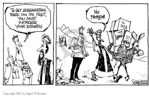 Cartoonist Signe Wilkinson  Signe Wilkinson's Editorial Cartoons 2002-04-03 globalization