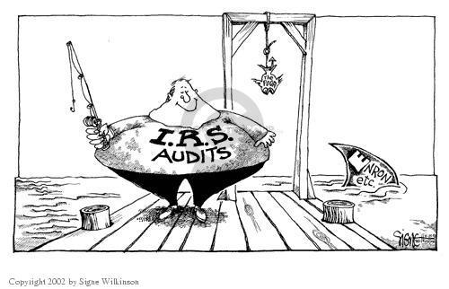 I.R.S. Audits.  The Poor.  Enron etc.
