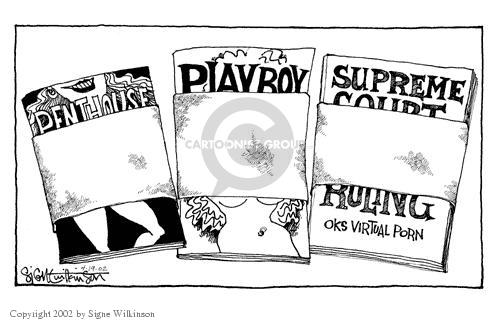Penthouse.  Playboy.  Supreme Court Ruling on Virtual Porn.