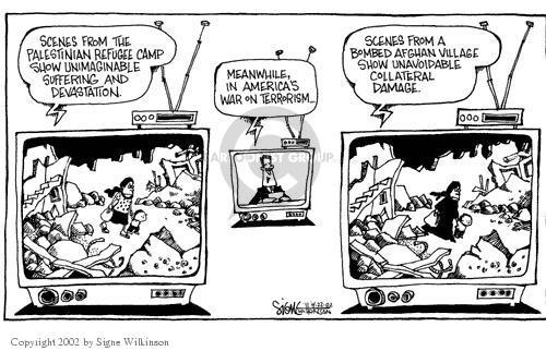 Cartoonist Signe Wilkinson  Signe Wilkinson's Editorial Cartoons 2002-04-22 rubble