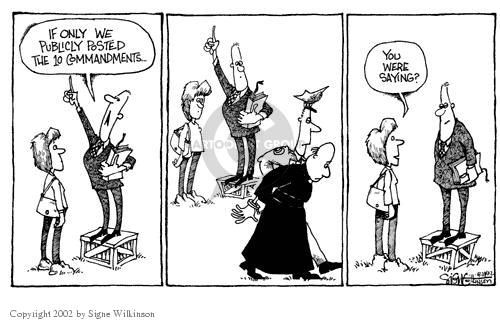 Cartoonist Signe Wilkinson  Signe Wilkinson's Editorial Cartoons 2002-04-24 political behavior