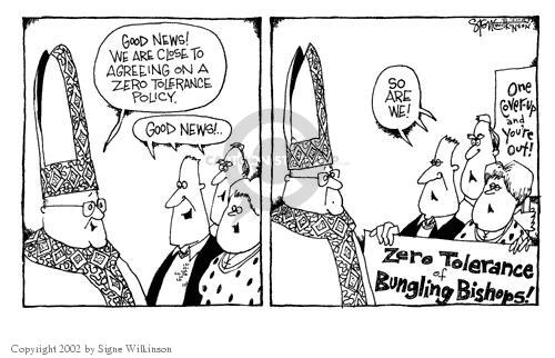 Cartoonist Signe Wilkinson  Signe Wilkinson's Editorial Cartoons 2002-04-30 political scandal