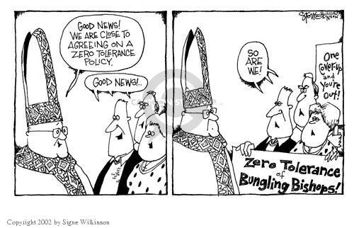 Signe Wilkinson  Signe Wilkinson's Editorial Cartoons 2002-04-30 zero tolerance