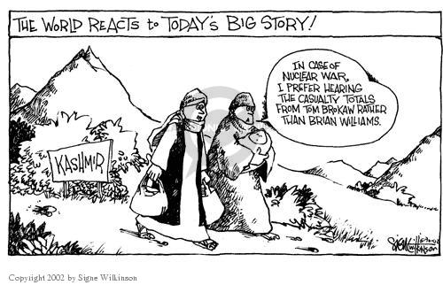 Cartoonist Signe Wilkinson  Signe Wilkinson's Editorial Cartoons 2002-05-30 network news