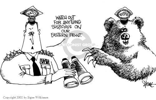 Cartoonist Signe Wilkinson  Signe Wilkinson's Editorial Cartoons 2002-05-31 wary