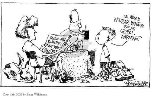 Cartoonist Signe Wilkinson  Signe Wilkinson's Editorial Cartoons 2002-06-03 dispute