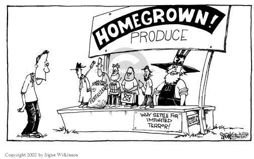 Cartoonist Signe Wilkinson  Signe Wilkinson's Editorial Cartoons 2002-06-12 terrorism