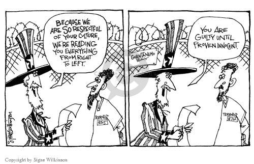 Signe Wilkinson  Signe Wilkinson's Editorial Cartoons 2003-06-20 due process