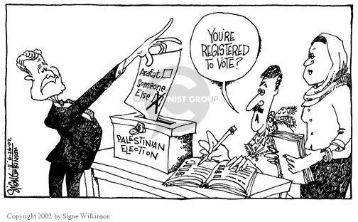 Signe Wilkinson  Signe Wilkinson's Editorial Cartoons 2002-06-26 Israel