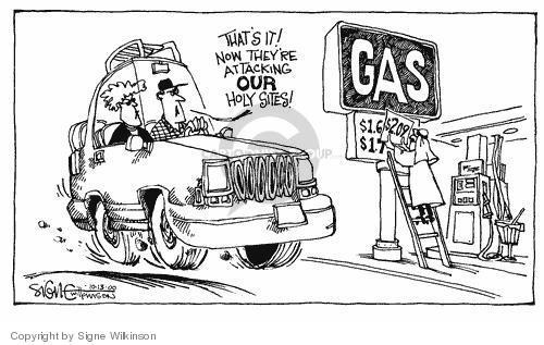Cartoonist Signe Wilkinson  Signe Wilkinson's Editorial Cartoons 2000-10-13 cost