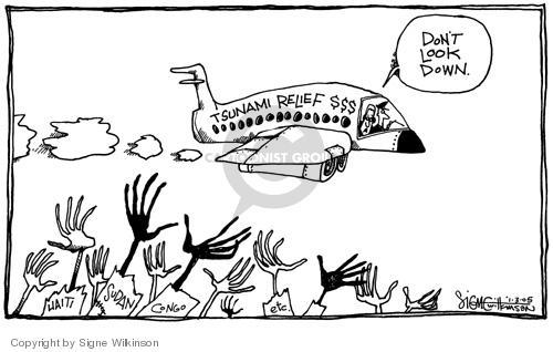 Signe Wilkinson  Signe Wilkinson's Editorial Cartoons 2005-01-03 relief
