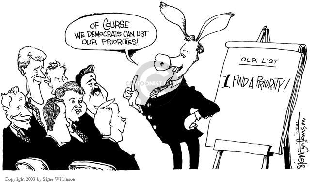 Cartoonist Signe Wilkinson  Signe Wilkinson's Editorial Cartoons 2003-01-07 position