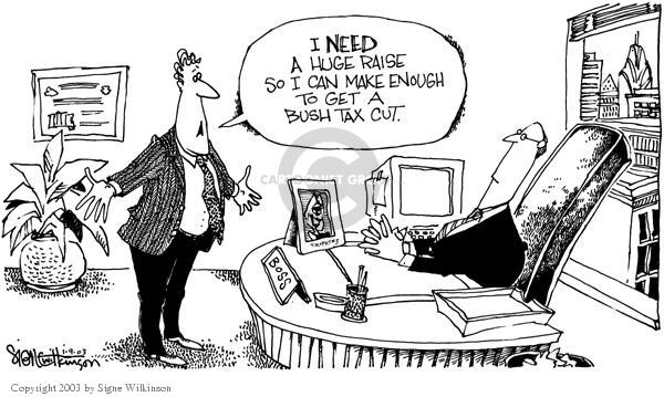 Signe Wilkinson  Signe Wilkinson's Editorial Cartoons 2003-01-09 percentage