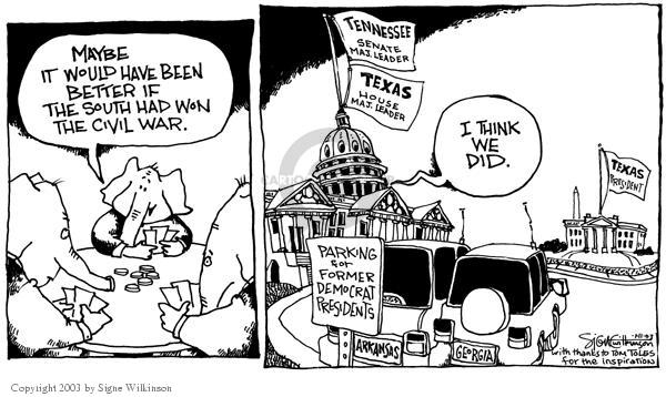 Signe Wilkinson  Signe Wilkinson's Editorial Cartoons 2003-01-11 majority leader