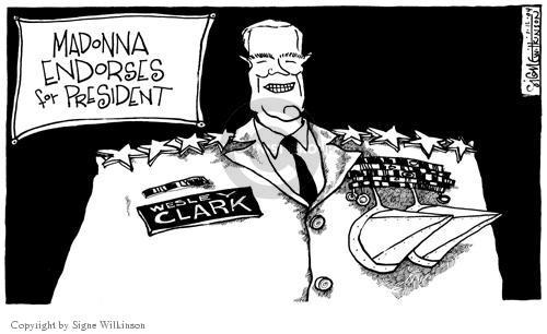Cartoonist Signe Wilkinson  Signe Wilkinson's Editorial Cartoons 2004-01-12 2004 election