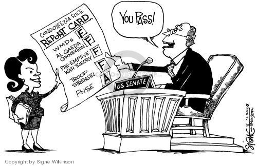 Signe Wilkinson  Signe Wilkinson's Editorial Cartoons 2005-01-20 preemption