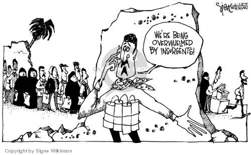 Signe Wilkinson  Signe Wilkinson's Editorial Cartoons 2005-01-31 voter turnout