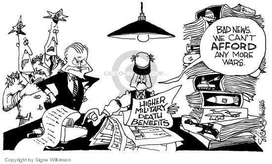 Cartoonist Signe Wilkinson  Signe Wilkinson's Editorial Cartoons 2005-02-02 cost