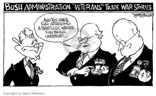 Signe Wilkinson  Signe Wilkinson's Editorial Cartoons 2004-02-05 Bush administration
