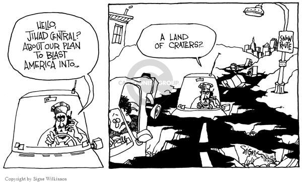 Signe Wilkinson  Signe Wilkinson's Editorial Cartoons 2003-02-25 infrastructure