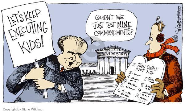 Cartoonist Signe Wilkinson  Signe Wilkinson's Editorial Cartoons 2005-03-04 Constitution
