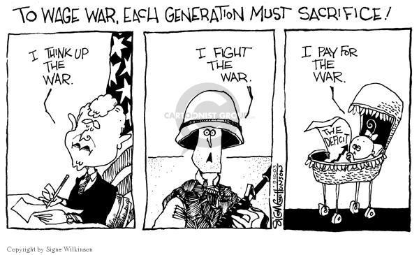 Cartoonist Signe Wilkinson  Signe Wilkinson's Editorial Cartoons 2003-03-10 cost