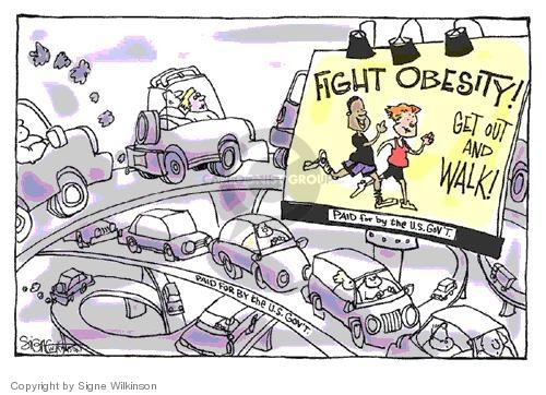 Cartoonist Signe Wilkinson  Signe Wilkinson's Editorial Cartoons 2004-03-11 highway